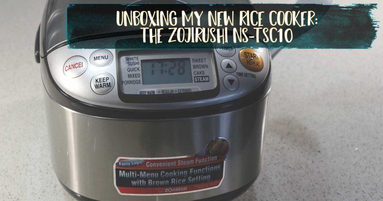 Unboxing mon nouveau rice cooker: le Zojirushi NS-TSC10 [vidéo]